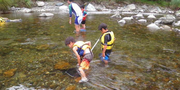 美山川の川遊び